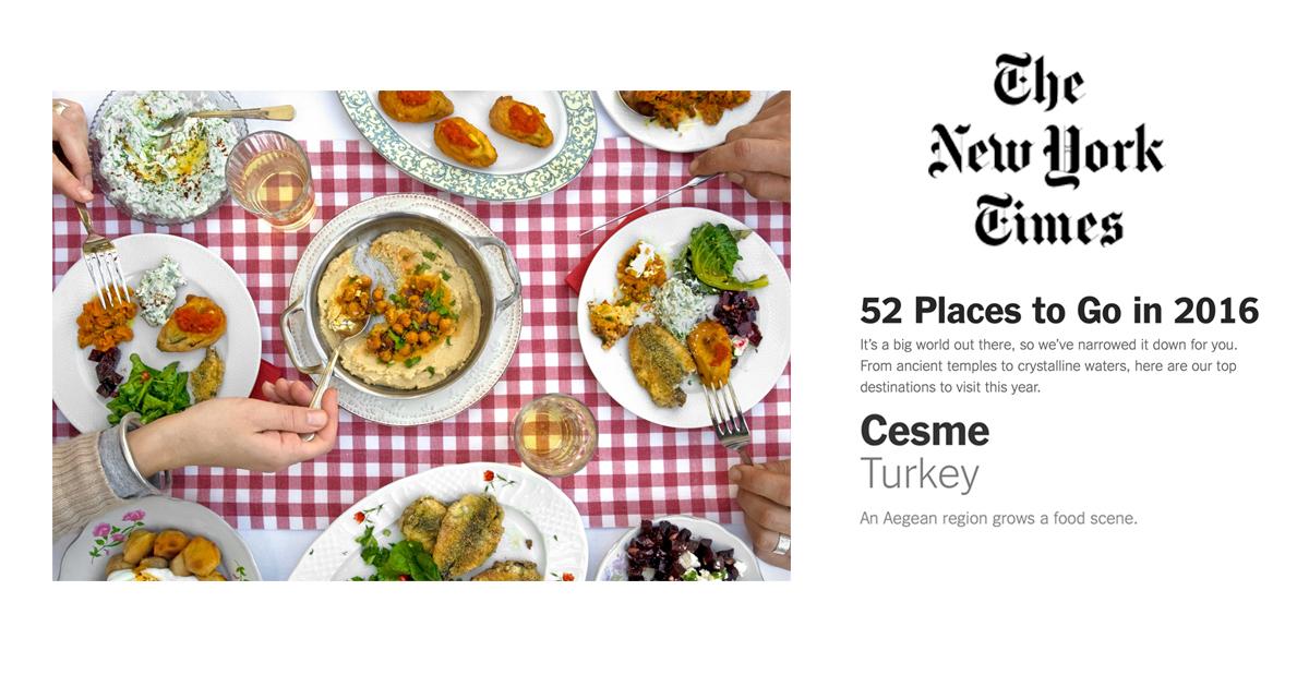 Cesme Turkey An Aegean region grows a food scene
