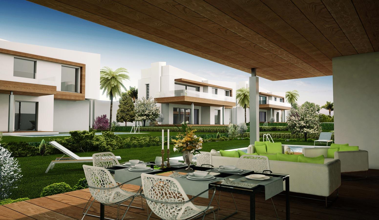 Mi'Marin Ilıca Villaları veranda